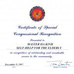 美國國會議員獎狀