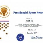 美國總統獎狀
